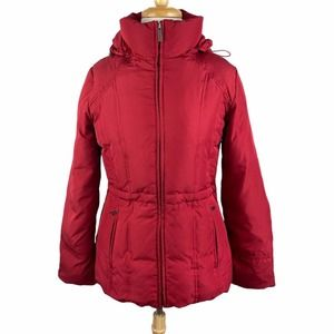 Marvin Richards Red Fitted Down Puffer Coat